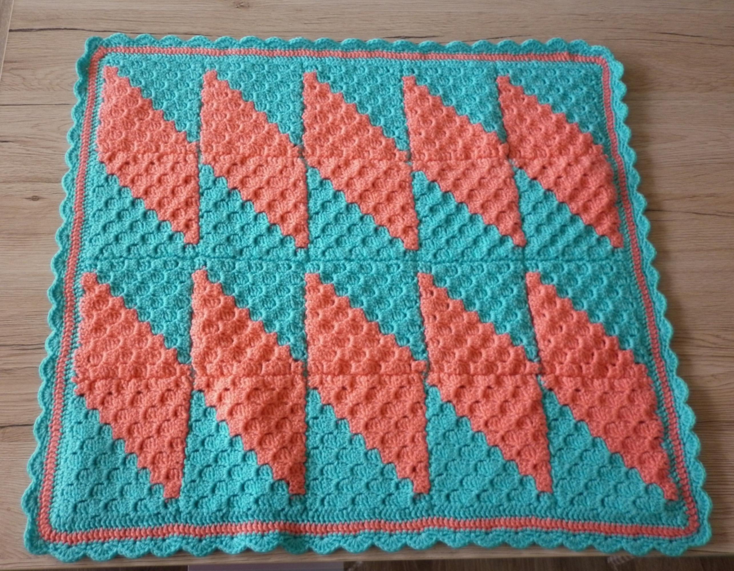 Menta Málna horgolt patchwork babatakaró 1164f56f6f